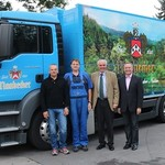 v.l. Bernd Pichl, Horst Schuller, Wolfgang Rasel, MAN Roland Trautner