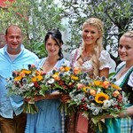 Platz 1:  Corinna Faltermeier (Mitte), Platz 2: Sandra Krüger (links), Platz 3: Judith Greiner (rechts)