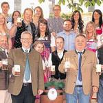 Für die Bierprobe hatte Oberbürgermeister Andreas Feller das erste Fass Kirwabier angezapft.